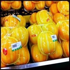 Korean Melons (kit) Tags: food yellow korea seoul melon southkorea striped koreanmelon kitsweeney