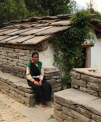 Kumaoni Lady - Proud owner of house (Saroj Mishra) Tags: mountain nature trek himalaya pindariglacier