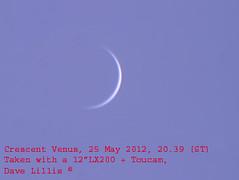 venus 25 May 2012 (Dave Lillis) Tags: irishastronomy shannonsideastronomy