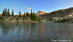 Not So Mirror Lake (Coop Photography) Tags: sunset two orange mountain lake reflection oregon river photography mirror nikon eagle 26 or north lakes fork august basin east trail cap 25 valley coop pan 28 wilderness 27 alpenglow 2011 d90 lostine