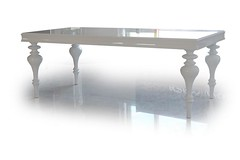"8433 WHITE LACQUER DINING TABLE • <a style=""font-size:0.8em;"" href=""http://www.flickr.com/photos/43749930@N04/7304807266/"" target=""_blank"">View on Flickr</a>"