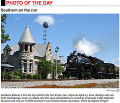 Photo of the Day - Trains Magazine (Allyson Praytor) Tags: norfolksouthern trainsmagazine tennesseevalleyrailroadmuseum 21stcenturysteam southern630 allysonleighphotography