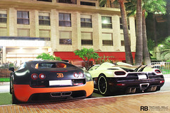 Only In Monaco #7 (Raphaël Belly Photography) Tags: world orange white black paris up car sport de french photography eos hotel bay riviera photographie duo ss cream super casino montecarlo monaco line belly exotic r 7d passion record 164 raphael edition bugatti rb spotting eb koenigsegg w16 supercars lineup combo veyron raphaël principality wre kaq worldcars agera