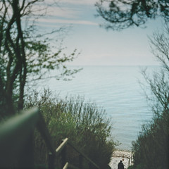 Hiddensee (PhotoSuse) Tags: sea stairs person ostsee hiddensee kreidefelsen