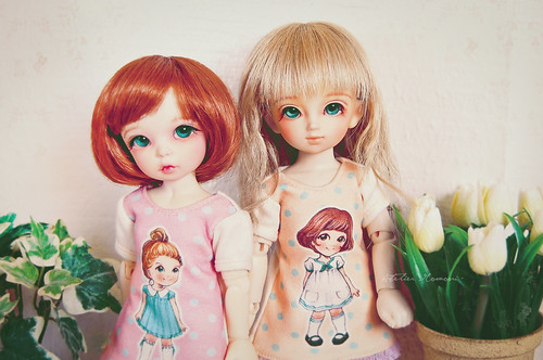Paper Doll T-dress - LittleFee Ante & YoSD Tinatsu