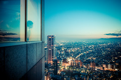 (laffaff) Tags: leica travel sunset building japan japanese tokyo shinjuku view dusk rangefinder government japon metropolitan 2012 tokio m9 japaner japanisch