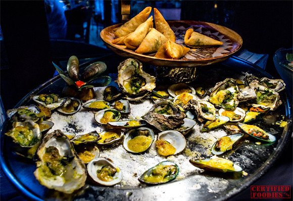 Mario's Oysters Rockefeller and Baked Mussels