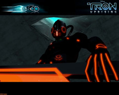 Tron Uprising #55 (Phaota2) Tags: roof wallpaper computer soldier mask graphic helmet tunnel scene disney hose animation glove tron legacy uprising cgi imagery