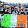 Westlife fans The final ever performance of record breaking boyband Westlife at Croke Park Dublin, Ireland