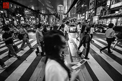 roppongi crossing () Tags: auto road street people car japan tokyo asia asien leute traffic taxi transport vehicle  nippon roppongi    verkehr zebrastreifen zebracrossing tokio  warten  roppongicrossing     strase elevatedroad apsc   hochstrase   sonynex7