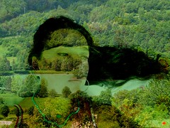 IN HIS OWN MIRROR (Terzanelle) (Siri Chandra) Tags: summer selfportrait me nature water river poetry poem creative layers photoshopping vulnerable creativewriting ohme greengreengreen selfperception poetryandpicturesinternational selfportraittherapyproject northwindsdaughter terzanelle