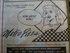 Metro Pizza 1992 (frankasu03) Tags: las vegas art metro ad restaurants pop pizza 80s 1992 90s eateries