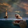 Welcome my friend! (Martine Roch) Tags: ocean friends sea sky elephant beach bench square fun joy surreal textures photomontage imagination giraffe lovely dreamlike martineroch flypapertextures