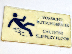 Warning sign on board! (larigan.) Tags: travel vacation holiday sign warning balkans iphone slipperyfloor larigan phamilton iphone4s