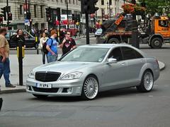 Mercedes-Benz S350 (kenjonbro) Tags: uk london westminster silver diesel trafalgarsquare mercedesbenz charingcross 2010 sw1 brabus cdi s350 kenjonbro blueefficiency 2987cc fujihs10 p1vpa