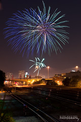 (7.4.12)-Independence Day Weekend-26 (ChiPhotoGuy) Tags: railroad chicago landscape fireworks july pilsen bloom burst july4th independenceday pyrotechnic