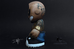kid_chicano_tattoos_left (yo_commandante) Tags: art tattoo toy vinyl mascot kidrobot mexican custom vato arttoy homie chicano commandante cholo