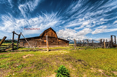 Mormon Row (Michael Bandy) Tags: sky mountains nature clouds barn landscape bravo bluesky wyoming grandtetons tetons 1020mm hdr highdynamicrange cloudscapes oldbarn grandtetonnationalpark grandtetonsnationalpark sigma1020mm 10mm mormonrow snowcoveredmountains d300s nikond300s