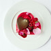 A heart-shaped Pavlova with chocolate and vodka mousse served to complement L'elisir d'amore © Lia Vittone/ROH 2012