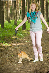 young woman and cat (WWW.FOTOMOMENTS.RU) Tags: summer portrait people woman pets white love smiling animals female cat hair outdoors person one togetherness women feline european friendship adult head expression young happiness domestic leisure care facial caucasian lifestyles embracing