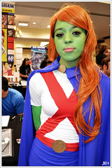 VA Comicon - Miss Martian (Joey K!) Tags: comics virginia justice dc costume comic cosplay roanoke va convention miss comicon con league martian manhunter