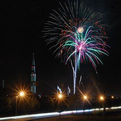 Space and Rocket Center Fireworks (gatorinsc) Tags: huntsville fireworks 5 alabama july saturn fourth 2012