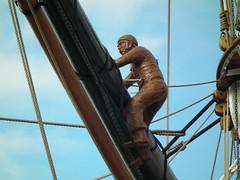 Cutty Sark Sailor (kenjonbro) Tags: uk england model sails cuttysark sailor rigging teaclipper se10 cuttysarkgardens kenjonbro royalgreenwich fujifilmfinepixhs10 fujihs10
