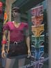 American Apparel Rainbow (Laura Silvis) Tags: chicago mannequin rainbow underwear americanapparel windowdisplay moobs