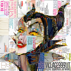 Maleficent (Village9991) Tags: collage mosaic deception disney illusion villain sleepingbeauty vanityfair maleficent
