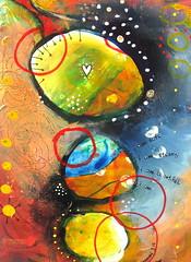 Safe, strong, beautiful. (belindafireman) Tags: beautiful painting rainbow colorful acrylic circles rings strong safe etsy dots crazygeniuses