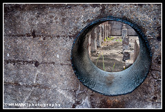 Opening, Sloss Furnaces (MR MARK | photography) Tags: old 2 abandoned metal circle square concrete al birmingham factory hole alabama pipe storage historic software pro opening peep nik furnace rectangle hdr sloss furnaces slossfurnaces efex hdrefexpro2 frps071412