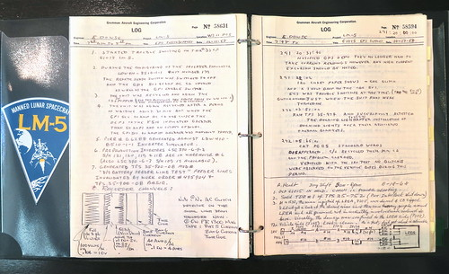 history notebook design log construction notes eagle space engineering 11 nasa 1968 apollo documents xi grumman buzzaldrin neilarmstrong lm5