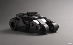 Lego Batman mini Tumbler (_Tiler) Tags: car lego mini batman vehicle dccomics batmobile batmanbegins moc tumbler thedarkknight miniscale thedarkknightrises tdkr