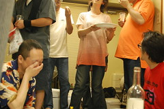 Banquet (personal note) Tags: city portrait selfportrait japan tokyo nikon arm autoportrait selfportraits nippon 東京 banquet takadanobaba michi waseda edogawabashi 高田馬場 personalnote シルエット 2011 早稲田 反射 d40 selfportr ポートレイト たかだのばば セルフポートレイト kmpnote 20120715
