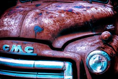 Old Rusty GMC (Matthew Gilliam Photography) Tags: old color slr car truck vintage rust automobile paint antique vehicle gmc hdr photomatix tonemapped singleexposurehdr canoneos50d matthewgilliamphotography adobelightroom4