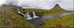 Kirkjufellsfoss by Kirkjufell Grundarfjrur (SigHolm - Very Busy) Tags: panorama waterfall iceland pano kirkjufell sland 2012 islande snfellsnes landslag landslagsmyndir churchmountain icelandiclandscape kirkjufellsfoss kirkjufells slensktlandslag