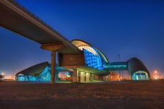 Jadaff 1 Metro Station (vineetsuthan) Tags: blue station nikon dubai metro hour bluehour hdr d800 vineetsuthan