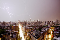 | Double Strike | (SOBPhotography) Tags: nyc newyorkcity storm color photography energy downtown cityscape photojournalism midtown photograph empirestatebuilding eastside bigapple greenwichvillage 7thavenue lightningstrike multiplelightningstrikes picturelightning