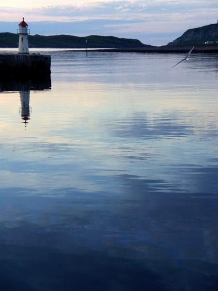 Vardo port. 1am. Norway