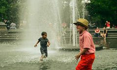 SotD 7.13.12 - Snapping Waters (Teo Almonte) Tags: park summer water fountain hat square washington kid style swag suave