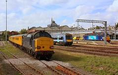 Variety at Norwich (Chris Baines) Tags: norwich yard network rail test train aga turbostar drs class 57 van