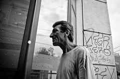 Hawk Nosed (stimpsonjake) Tags: nikoncoolpixa 185mm streetphotography bucharest romania city candid blackandwhite bw monochrome nose hawknosed oldman portrait