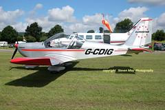 G-CDIG Aerotchnik EV-97 Eurostar (SPRedSteve) Tags: gcdig eurostar shobdon ev97