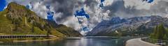 20160831 Lago fedai e Marmolada (Matteo Biguzzi [bigu77]) Tags: panorama paesaggio landscape lake montain sky unescoworldheritage italy dolomiti 2016 canon eos500d eosrebelt1i