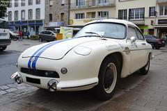 DB HBR5 (Monde-Auto Passion Photos) Tags: auto automobile db deutch bonnet coach hbr5 coup blanc bleu france crozon finistre bretagne