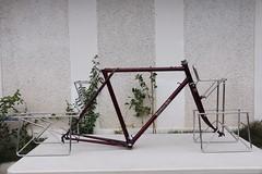 Katakura Silk touring frame and racks (jimn) Tags: japanese touring randonneur vintage bicycle frame frameset 650b katakura katakurasilk