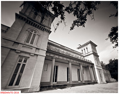 The Dundurn castle (DelioTO) Tags: 4x5 adoxchs100 architecture august autaut blackwhite canada city d23 f250 lake ontario pinhole summer woods