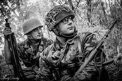 FJR5-4 (Andy Darby) Tags: bosworthfjr5 bosworth battlefield railway battlefieldrailway fjr5 fallschirmjager german reenactment uniform k98 mg42 ppsh41 marching war andydarby