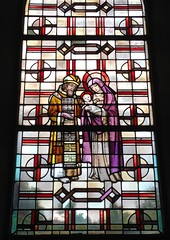 St. Marien / Kirchenfenster / 3 (micky the pixel) Tags: kunst art glasmalerei kirchenfenster fenster window mariaundjosef kirche church marienkirche neunkirchen saarland deutschland germany