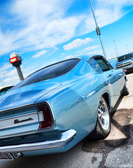 1967 Plymouth Barracuda (Chad Horwedel) Tags: 1967plymouthbarracuda plymouthbarracuda plymouth barracuda classic car blue roadkillnights roadkill kansascityspeedway kansascity kansas